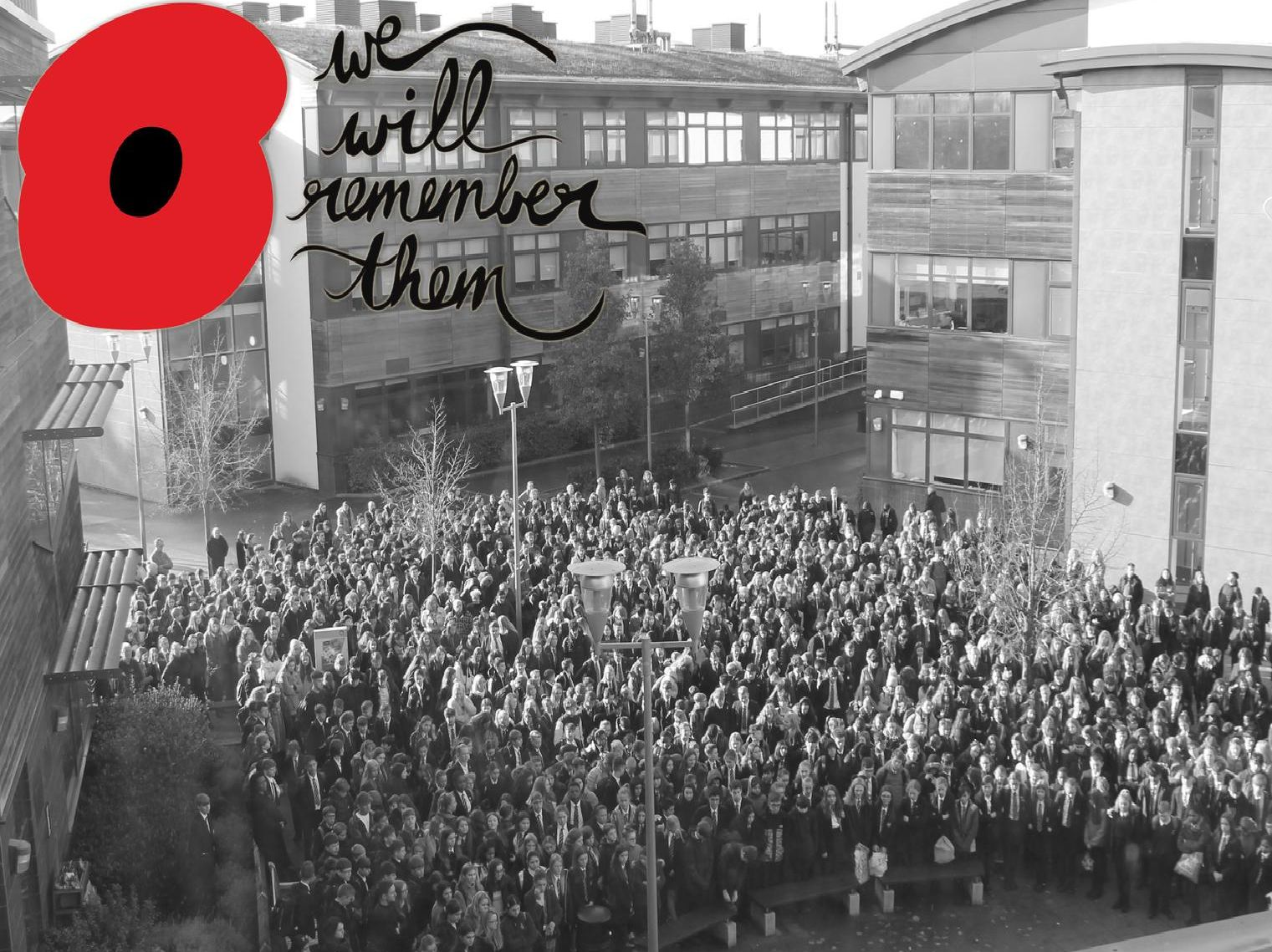 Nearly 1,400 students and staff from North Leamington School gathered today (Monday November 11) on Armistice Day to pay their respects which included a two-minute silence.
