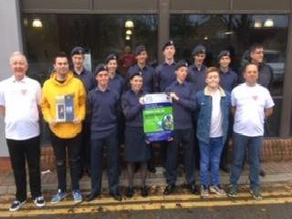 Air Cadets who took part in the sponsored swim at Southam Leisure Centre.
