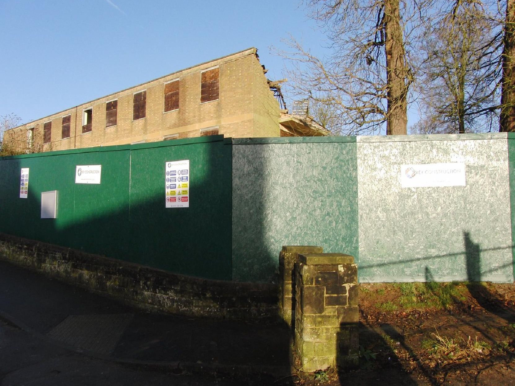 Demolition work is currently taking place at the old police station in Warwick. Photo by Geoff Ousbey.