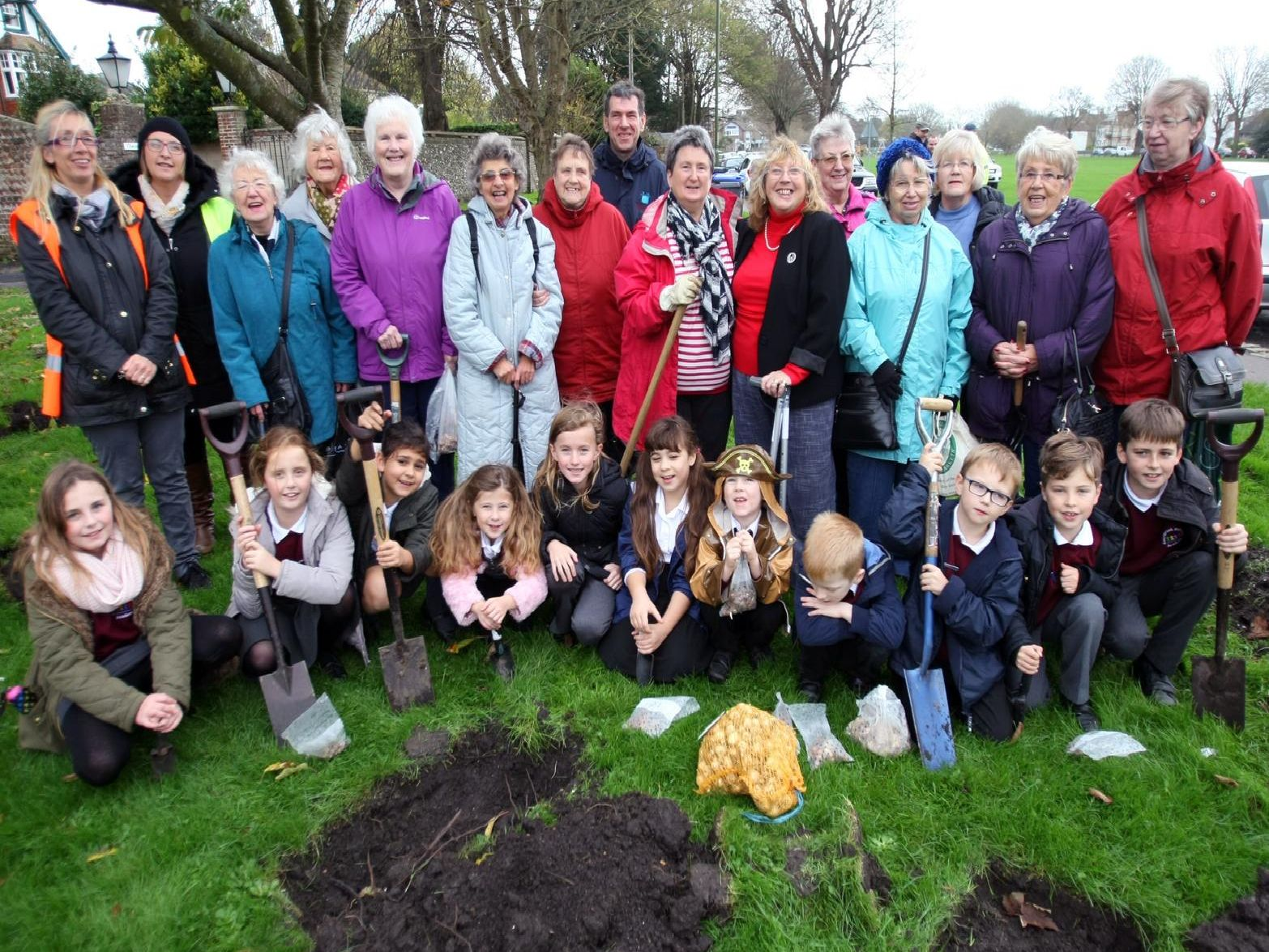 Southwick Downsway WI bulb planting centenary event