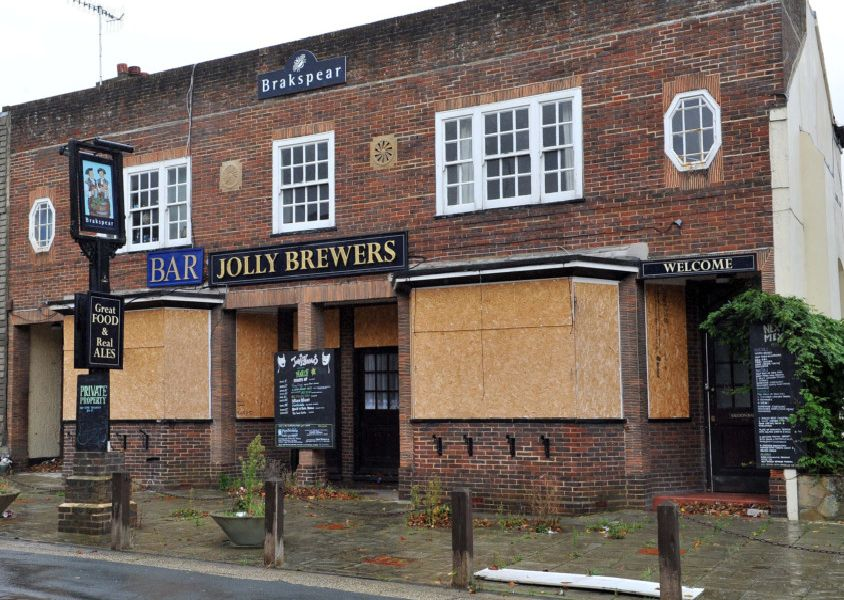 The old Jolly Brewers pub in Clifton Road, Worthing