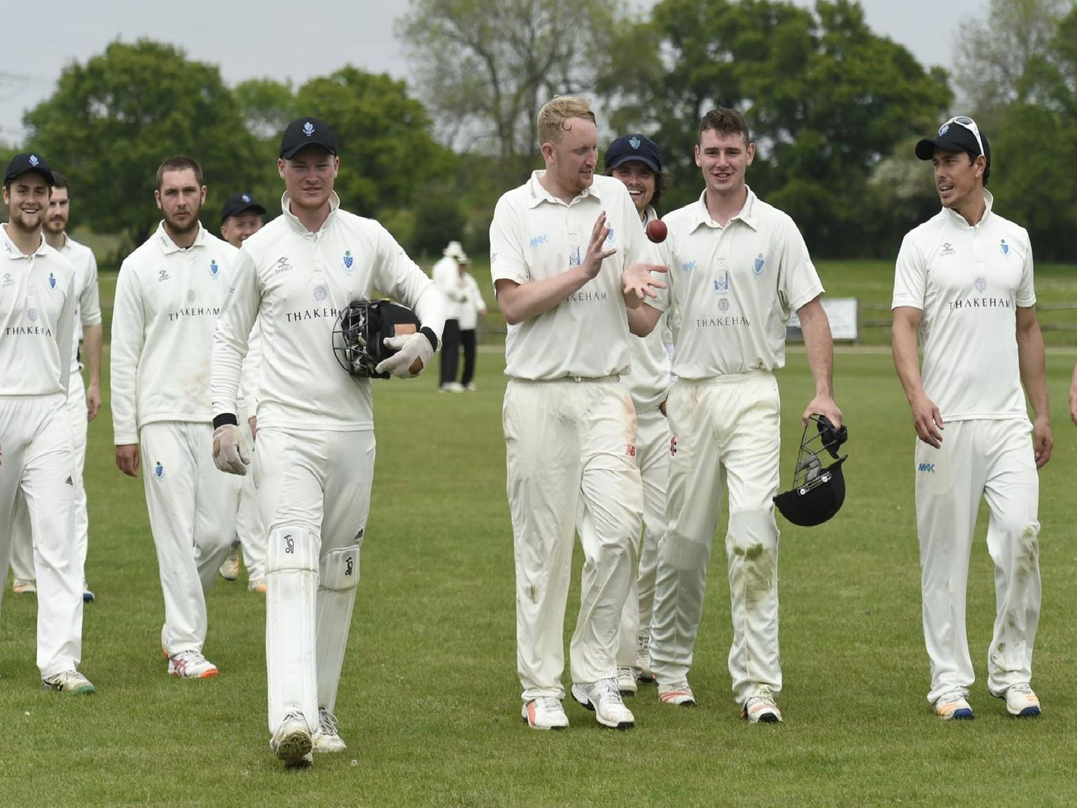 Billingshurst cricketers walk off after bowling Ifield out for 95