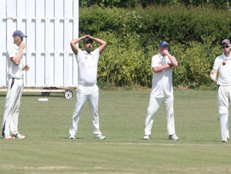 Selsey fielding, Slindon batting / Pictures by Derek Martin
