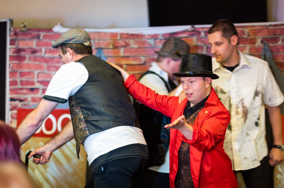 Service users at Fitzalan Howard Centre in Worthing put on a performance of Oliver! for friends and family, with Worthing mayor Hazel Thorpe as special guest