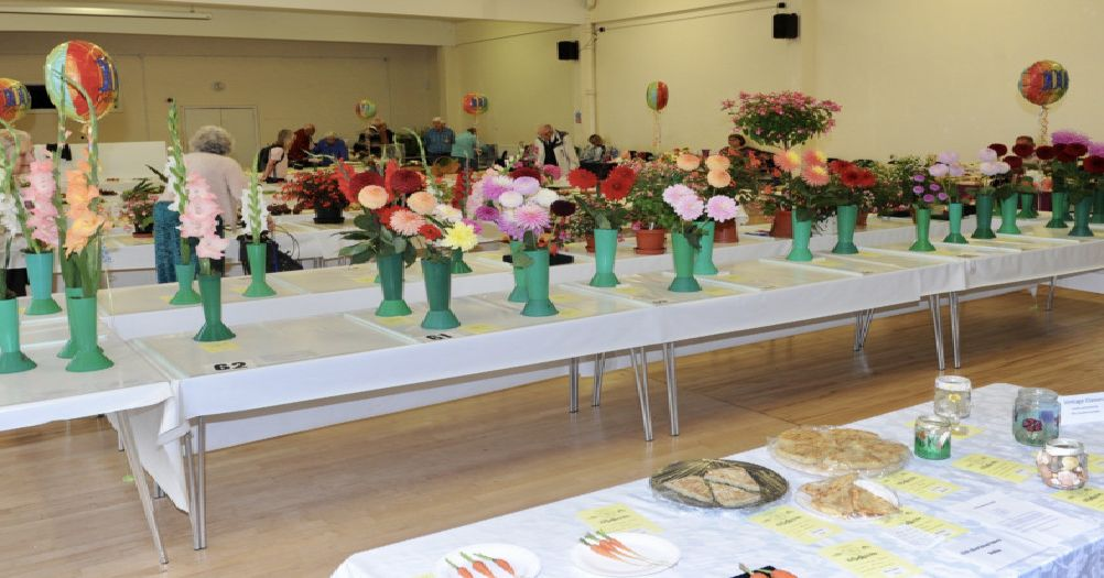 Colourful displays at Shoreham Horticultural and Allotment Society's summer show. Picture: Stephen Goodger
