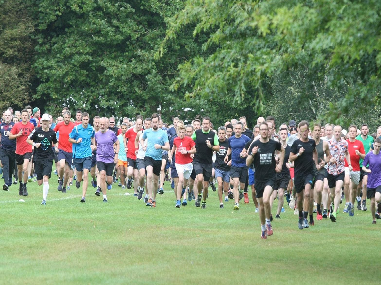 Action from Horsham parkrun's fifth anniversary
