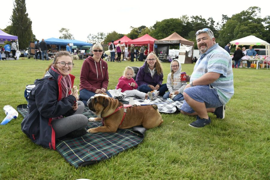 Bulldog Picnic - Bulldog Rescue and Rehoming Trust.2019''The 22nd Annual Bulldog Picnic. ''Pictured are the Lakes and Gregs family with Wilton (8 months).''Picture: Liz Pearce''07/09/2019''LP191171 SUS-190909-095405008