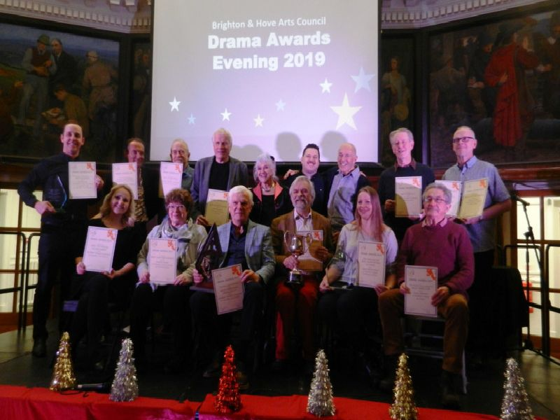 Winners at the Brighton and Hove Arts Council Drama Awards 2019