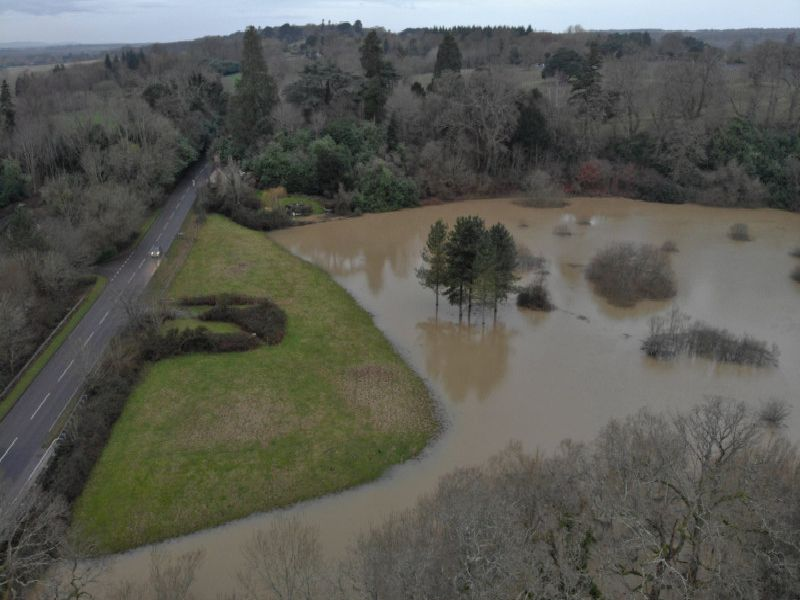 Flooding in Pulborough. Photo by Darren Hyde of Billingshurst Recovery