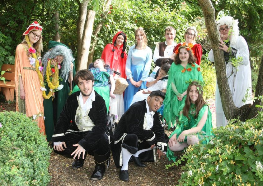 Students at Oak Grove College in Worthing are putting on Into the Woods at the Connaught Theatre, Worthing. Photo by Derek Martin DM1963990a