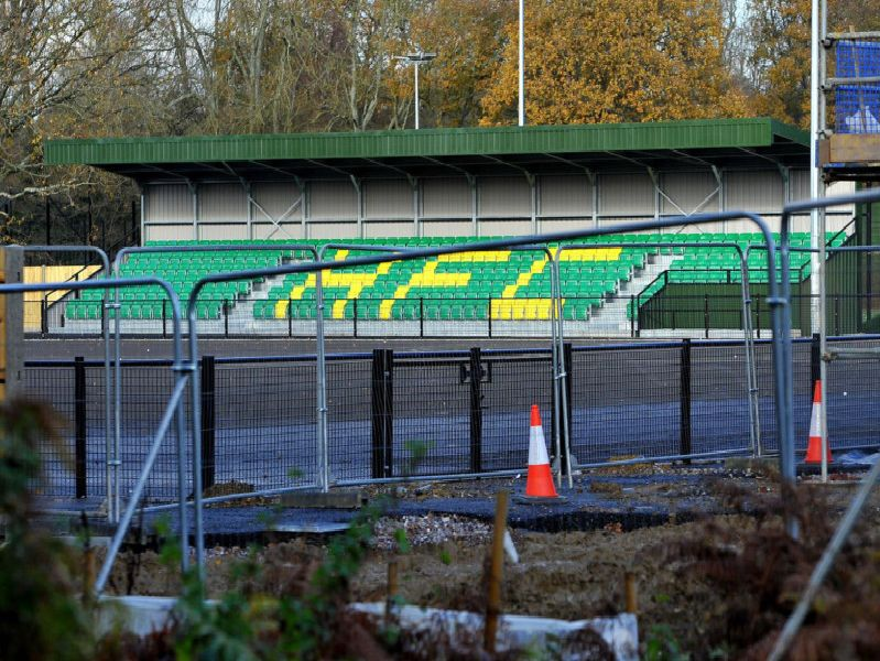 The latest works at Horsham Football Club's new ground