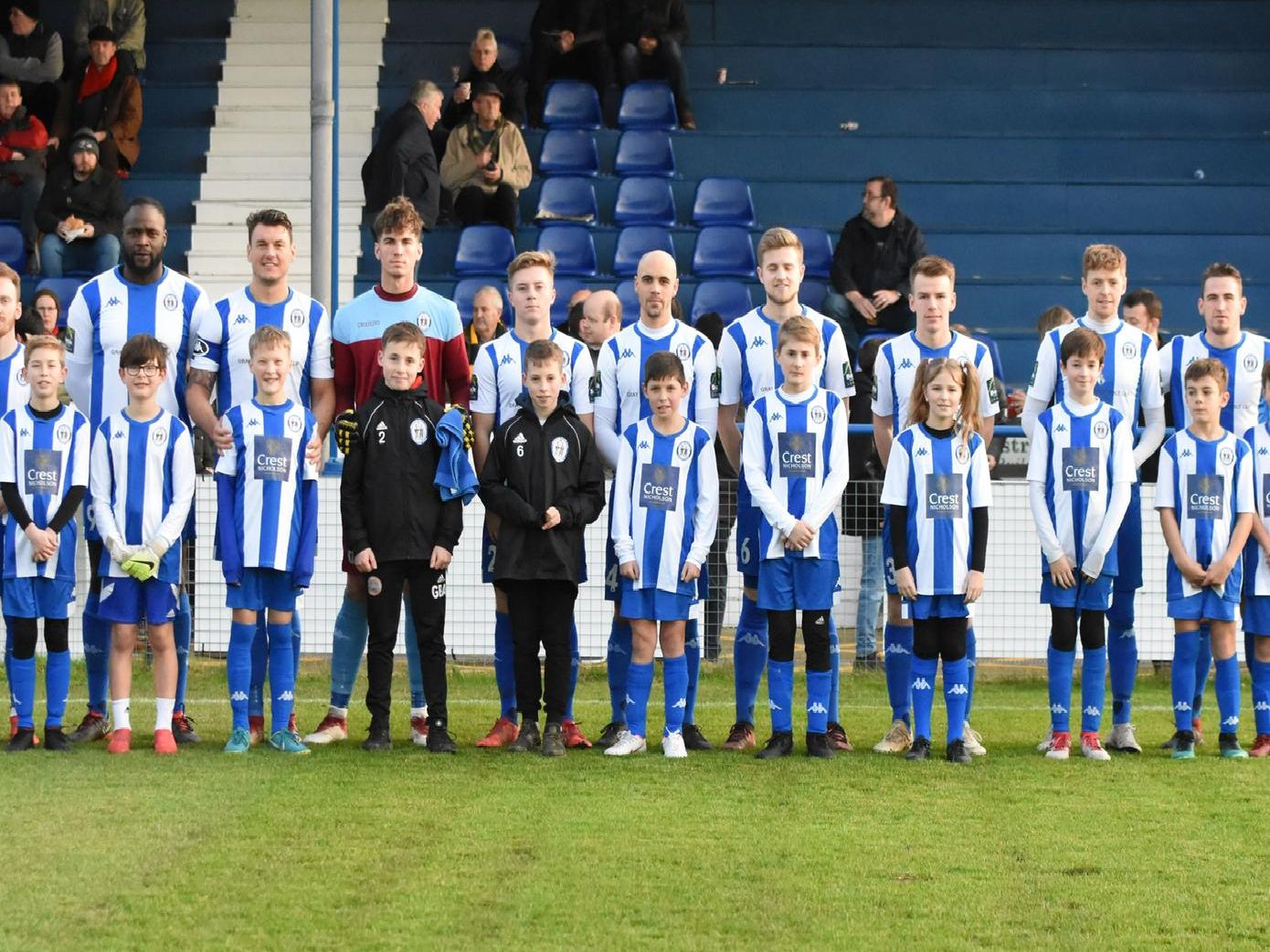The team and today's mascots. Picture by Grahame Lehkyj