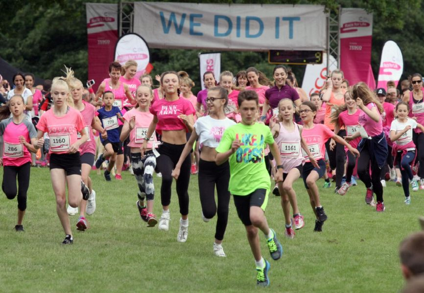 Crawley Race for Life 2016. Start of the 5k.