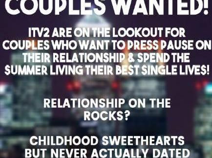 ITV couples wanted flyer