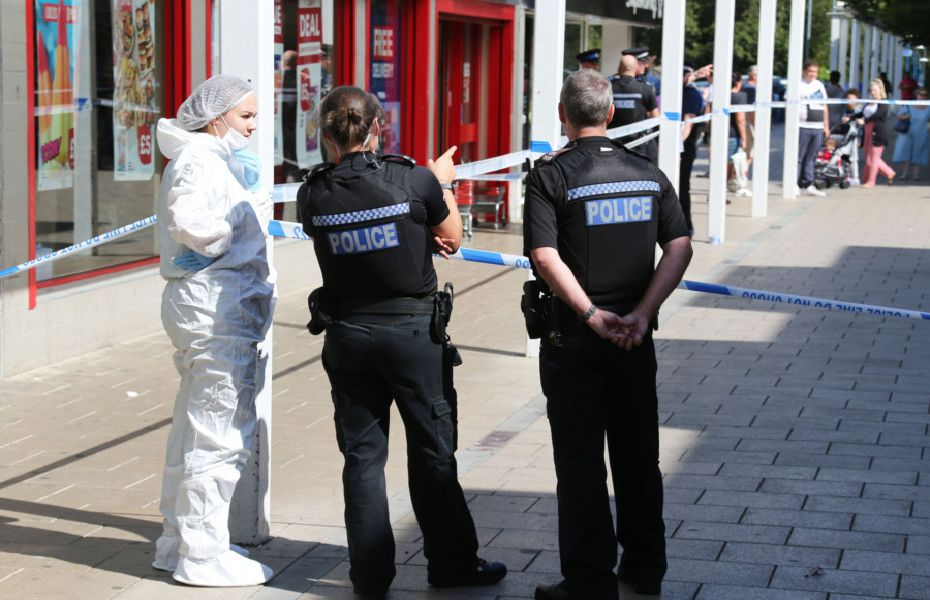 A man has been left with life-threatening injuries after a knife incident in Broadfield shopping precinct, Crawley.