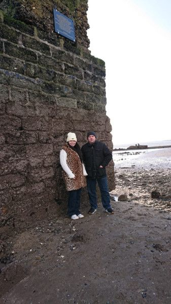 Chairman Emmanuel Mullen and vice chair Lynsy-Marie Douglas at the shore site.