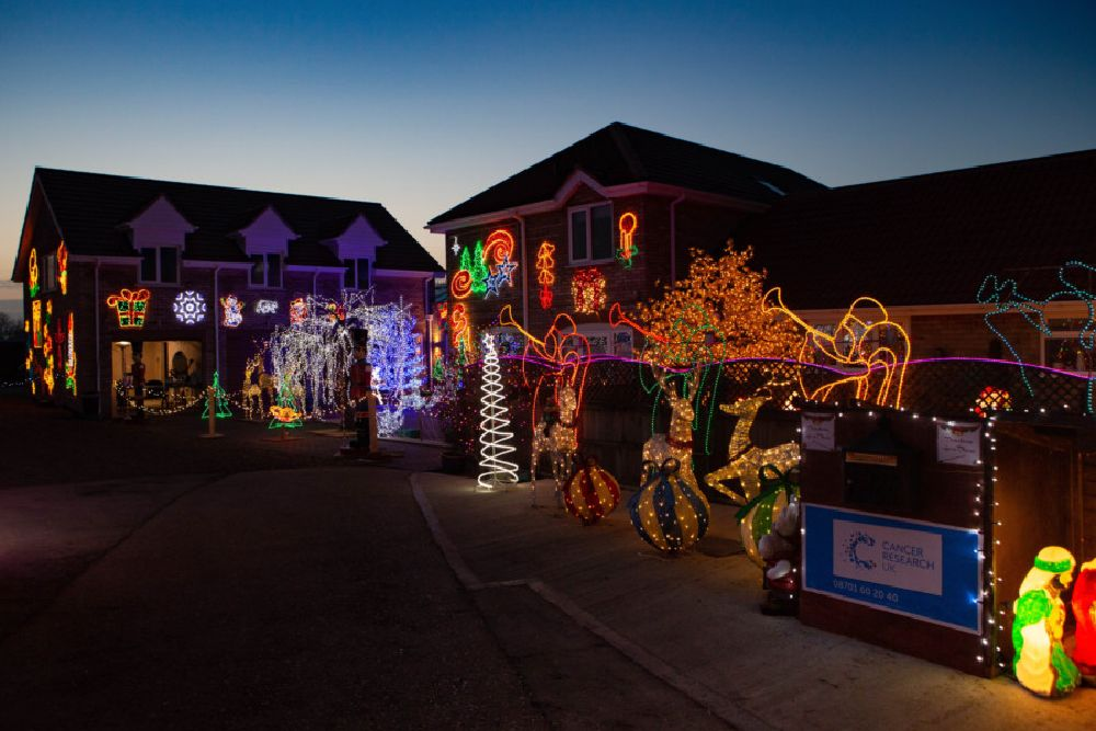 Willow House Christmas lights