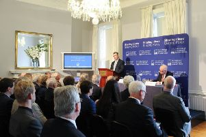 13443672a Sir Jeffrey Donaldson MP speaks to the Institute of International and  European Affairs in Dublin on