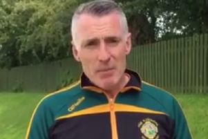 Declan Kearney, pictured in a Creggan Kickhams tracksuit, said Trevor Ringland was 'attempting to foment division' within the GAA
