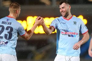 Ballymena United striker Johnny McMurray