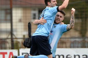 Conor McCloskey netted Ballymena's second goal as they came back to claim all three points against Carrick.