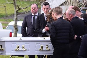 The funeral has taken place of Shannon McQuillan at St. Joseph's Church, Dunloy, Northern Ireland.'Picture By: Arthur Allison/Pacemaker Press