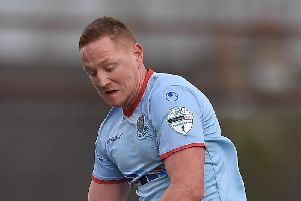 Ballymena United midfielder Stephen McAlorum