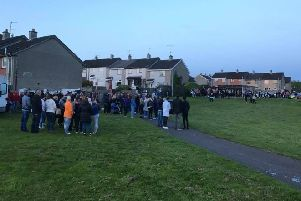 The community came together to pay respects to Kyle.