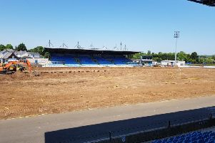 Work begins at Ballymena Showgrounds.