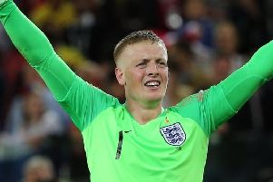 Everton keeper Jordan Pickford