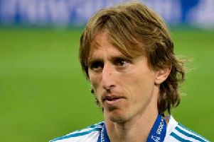 Real Madrid's Luka Modric
