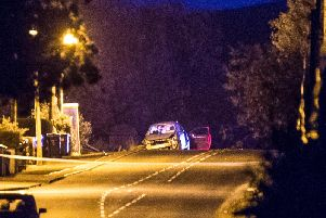 Scene of collision at Dark Hedges