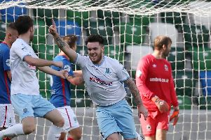 Ballymena United's Cathair Friel netted at the Brandywell.