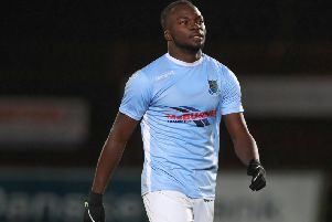 Ballymena United's Basit Umar. Pic by Pacemaker.