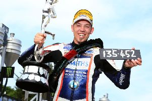 Peter Hickman set the first ever 135mph road racing lap as he won the Senior TT in 2018.