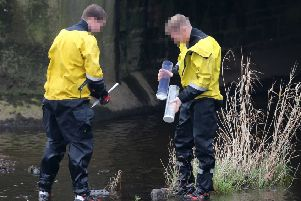 Police recovered a knife from the River Braid in Ballymena on Sunday after the sudden death