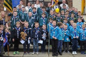 Fifth Ballymena Scout Group came together to celebrate Founders Day at St Columba's Church.