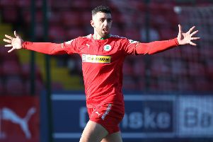 Cliftonville striker Joe Gormley