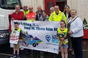 Buick Memorial Primary School conducted a litter pick around the village of Cullybackey.