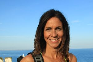 Julia Bradbury is among a host of Celebrities backing 'Walk Together' to stop people dying of bowel cancer
