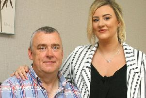 Sean Barr, pictured with his daughter Toni, says the fear of another stroke affects all his family