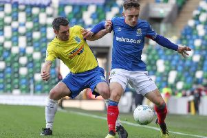 Linfield's Joel Cooper finished with two goals against Ballymena United on Saturday. Pic by Pacemaker.