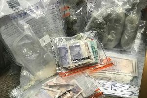 Drugs and cash seized by PSNI