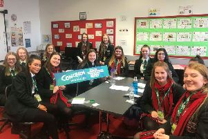 Students from Cambridge House who have taken a lead role for charity to help families break free from hunger
