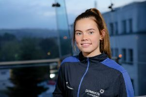 Bursary winner - champion sprint and relay runner Lauren Roy from Ballymena