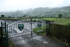 Co Antrim's Oisin Glenariffe club members  have voted to  remove a set of gates from the club entrance commemorating two IRA men who were killed in 1922. 'Picture by PressEye