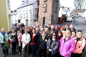 Participants of the familiarisation tour of the Glens of Antrim pictured in Cushendall with the Mayor of Causeway Coast and Glens Borough Council Alderman Maura Hickey.PICTURE KEVIN MCAULEY/MCAULEY MULTIMEDIA