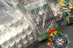 Cigarettes seized in Ballymena swoop