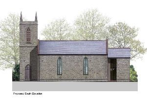 Old Church being restored