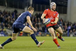 Ulster's ''Luke Marshall during the Heineken Champions Cup Quarter Final against Leinster